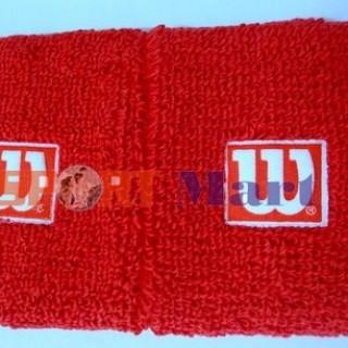 Băng cổ tay Tennis Wilson đỏ
