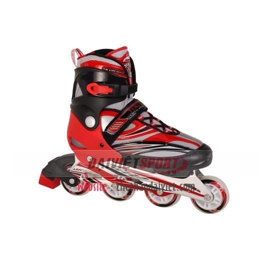 Giầy trượt patin 1 hàng bánh Tico đỏ