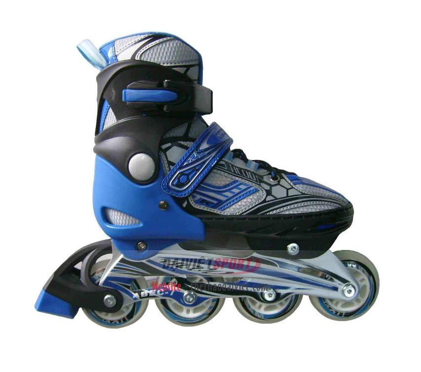 Giầy trượt patin 1 hàng bánh Tico xanh