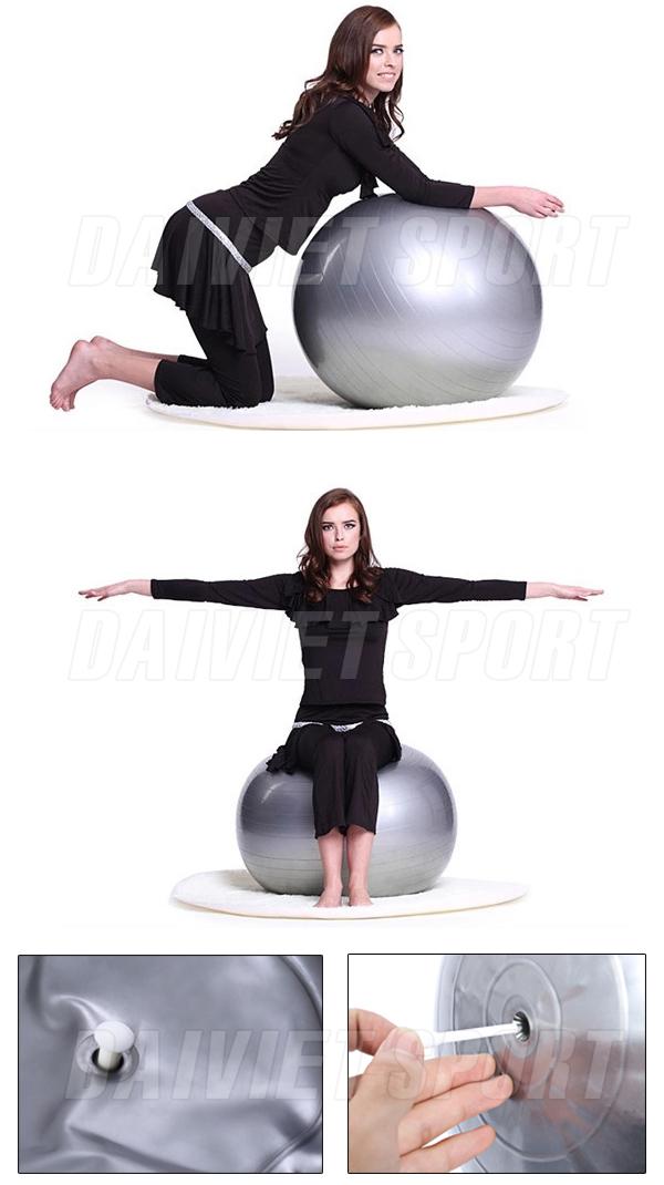 Bóng tập yoga trơn 75cm TLM