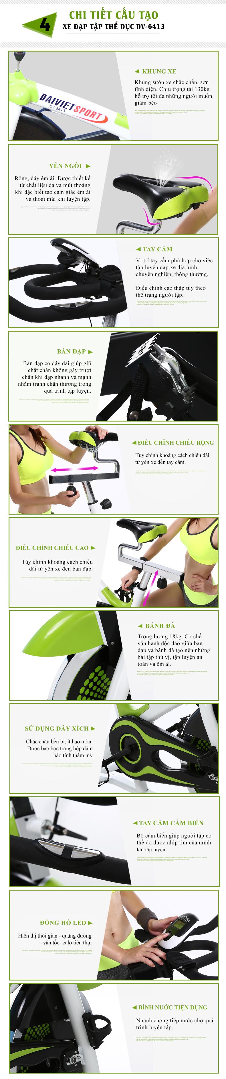Chi tiết Xe đạp thể thao Đại Việt DV-6413