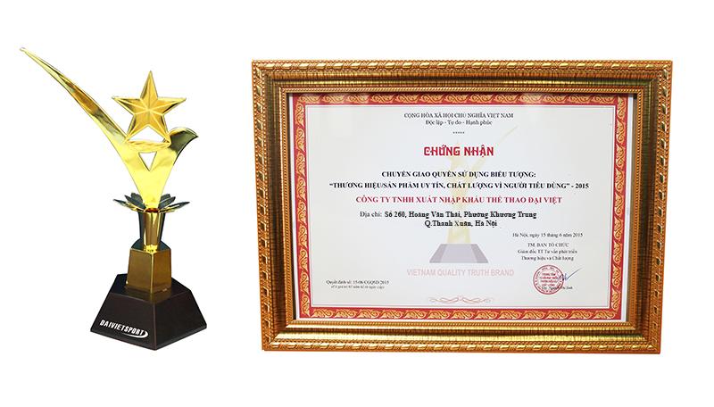 cúp vàng thương hiệu của Đại Việt Sport