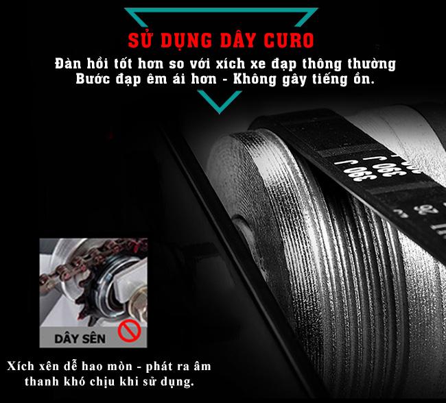 Curo xe đạp tập thể thao Đại Việt DV-6415