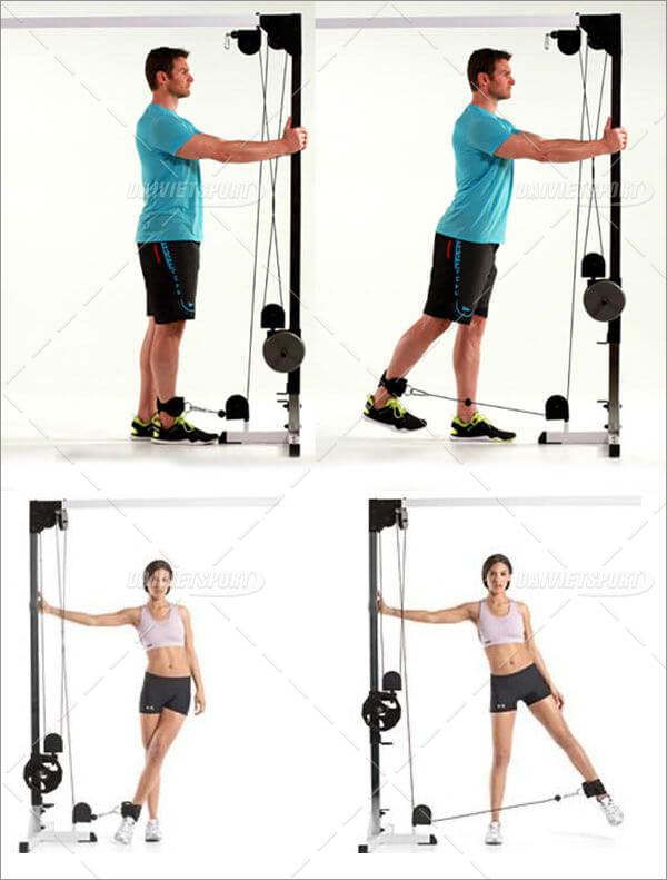 dây quaasb hỗ trợ tập mông chân