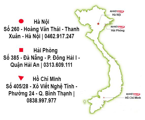 địa chỉ Đại Việt Sport trên toàn quốc