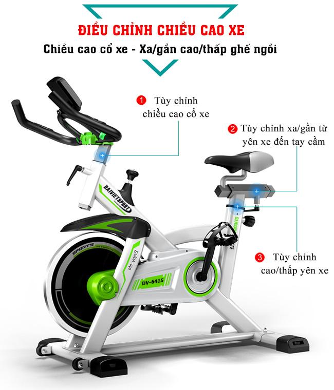 điều chỉnh xe đạp tập thể thao Đại Việt DV-6415