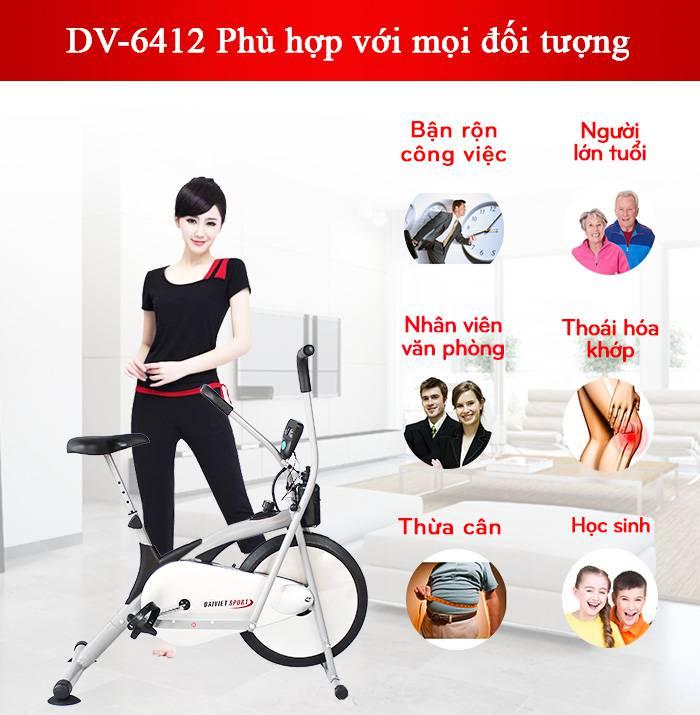Đối tượng sử dụng xe đạp tập DV-6412