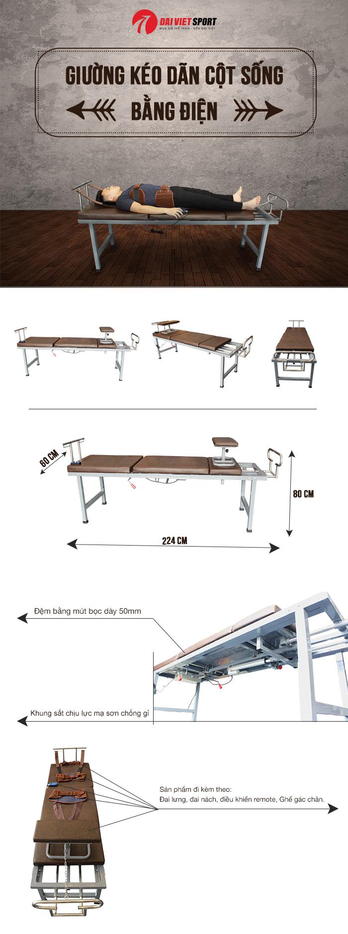 Giường kéo dãn cột sống bằng điện