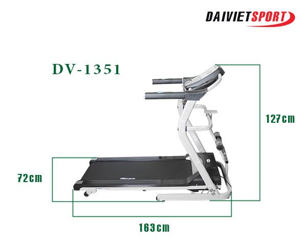 Kích thước máy chạy bộ DV-1351