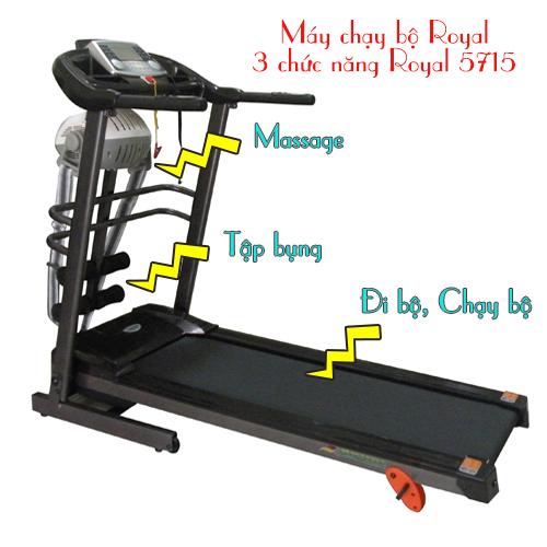 máy chạy bộ điện royal 5722