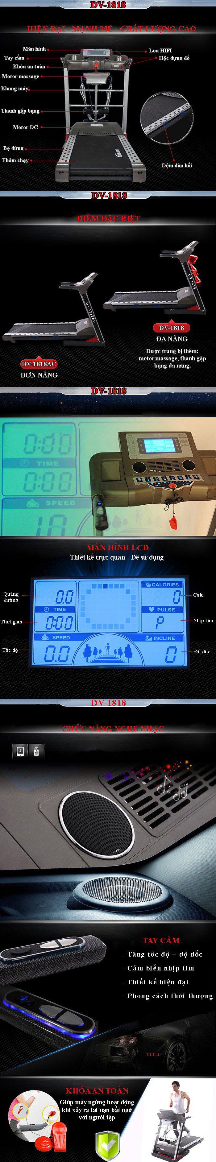 máy chạy bộ dv 1818 giúp tránh lão hóa 1