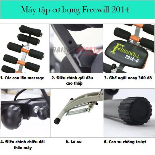 Máy tập cơ bụng Freewill 2014