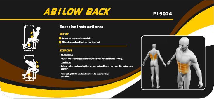 Máy tập lưng bụng Impulse PL9023