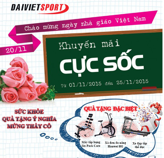 Nhân dịp ngày nhà giáo Việt Nam 20-11 Đại Việt Sport