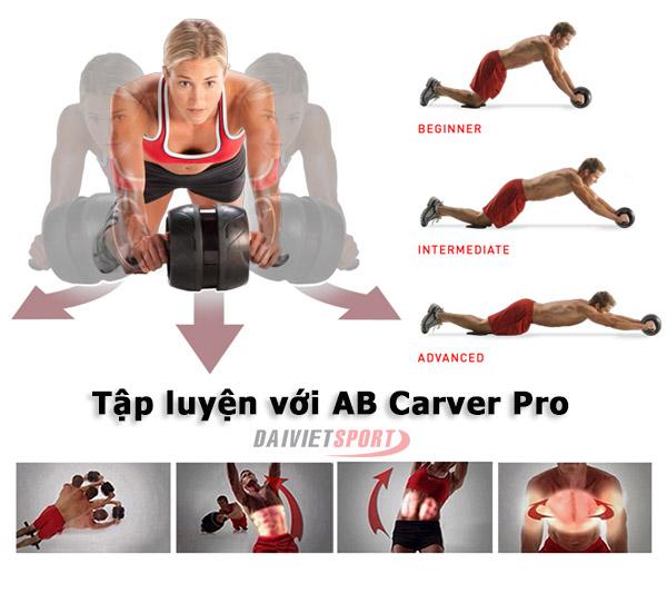 Tác dụng Con lăn tập bụng AB Carver Pro