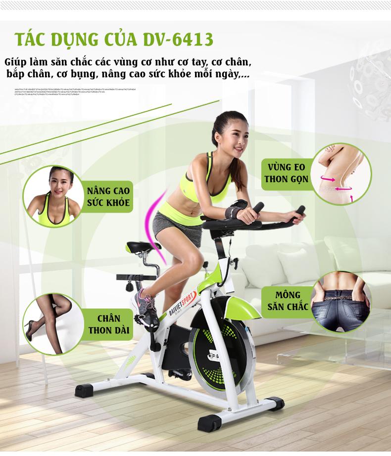 Tác dụng của xe đạp tập DV-6413