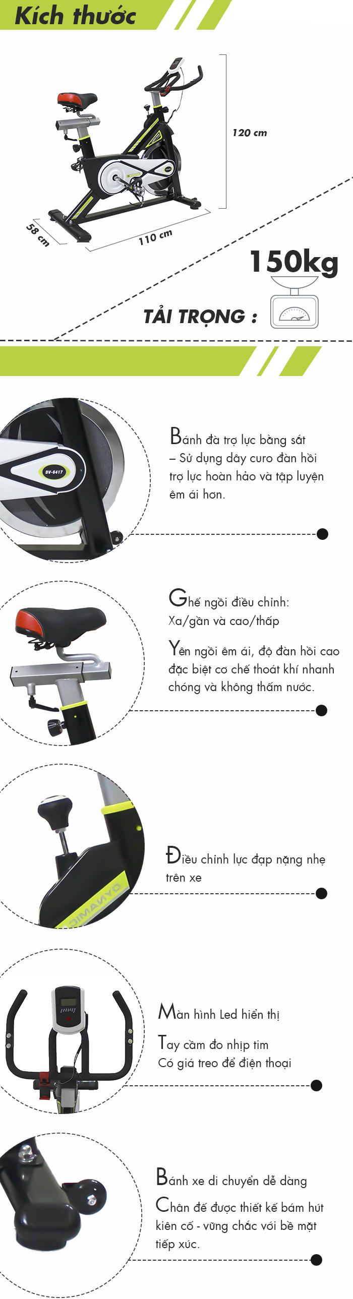 Thông tin về Xe đạp tập thể thao DV-6417