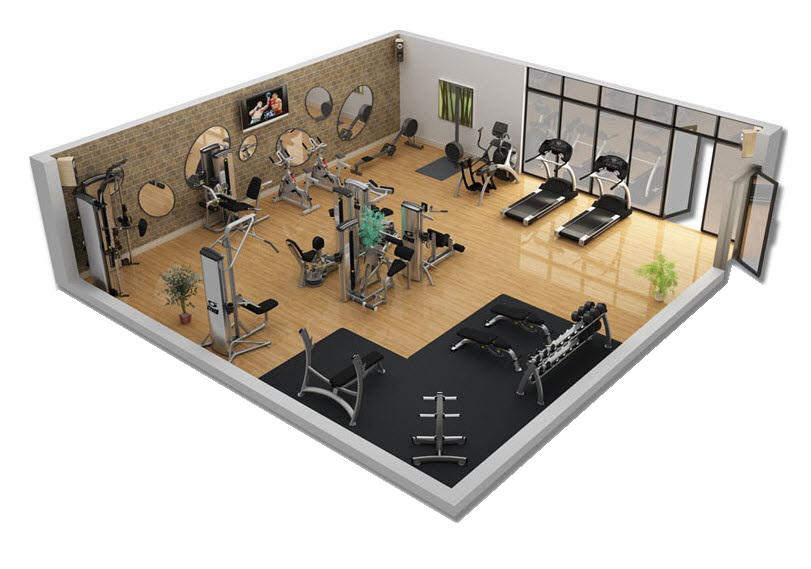 tư vấn lắp đặt cho phòng tập gym