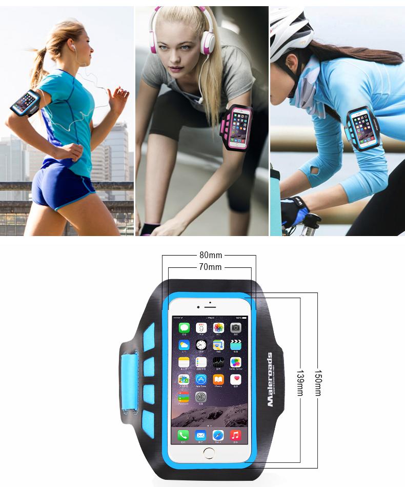 Túi đựng điện thoại đeo tay tập thể dục Maleroads MLS8808