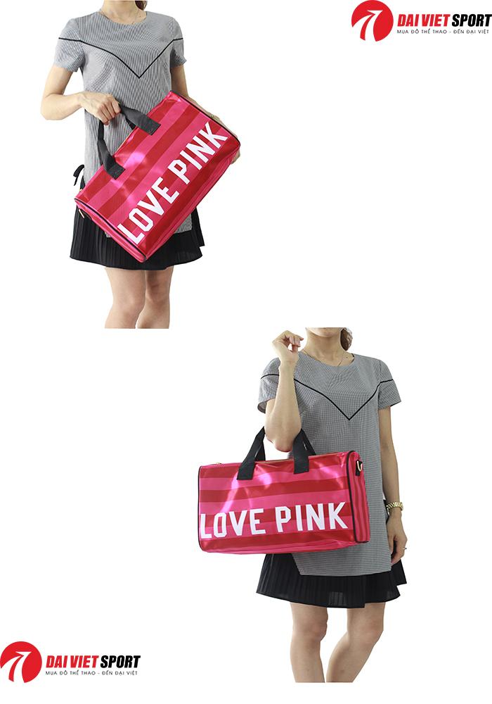 tui xach the thao du lich love Pink