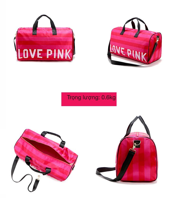Túi xách thể thao du lịch Love Pink