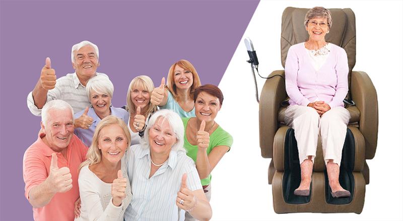 Ghế massage toàn thân có điều trị chứng đau lưng cho người già không?