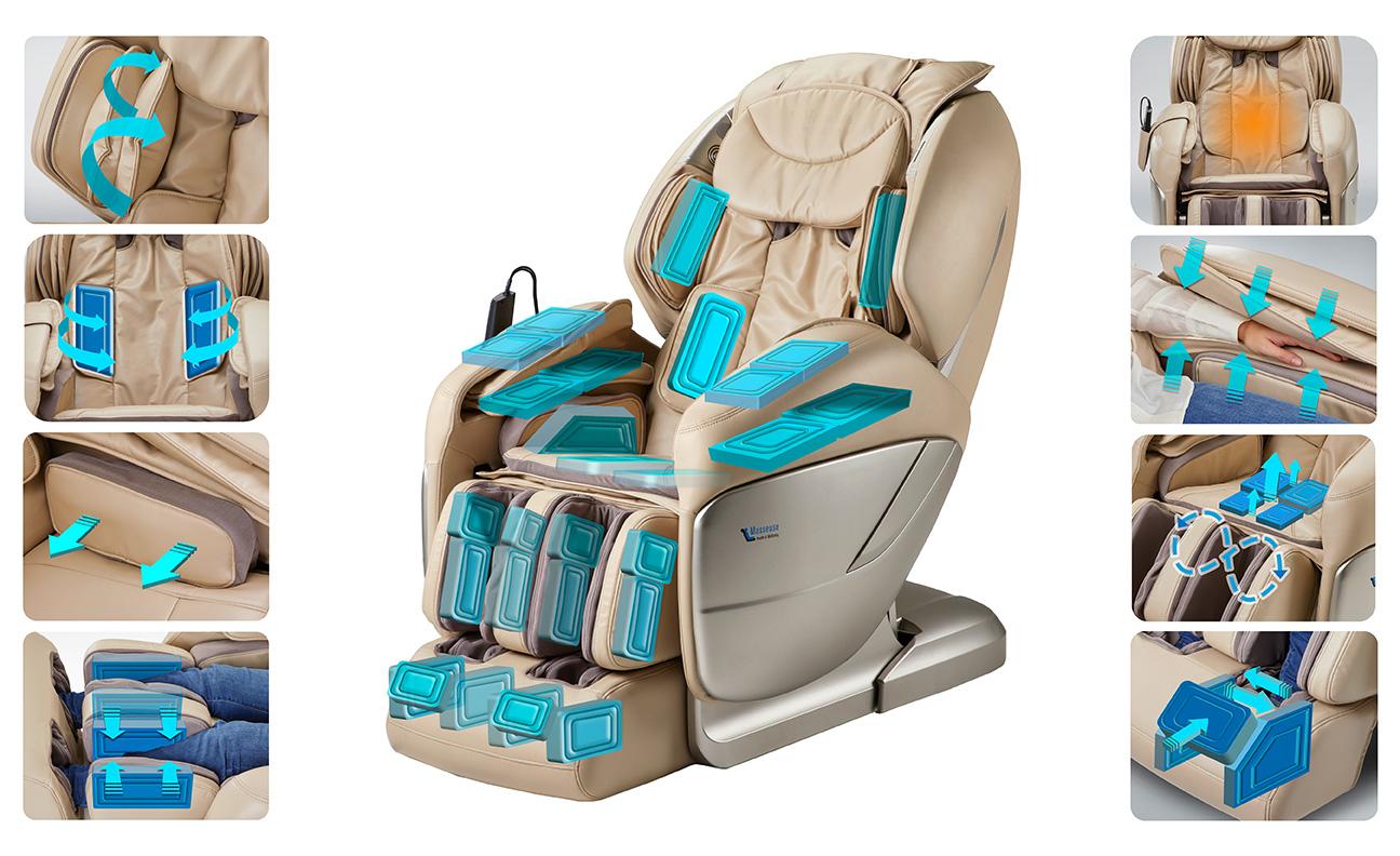 Những điều cần biếtvề túi khí trên ghế massage